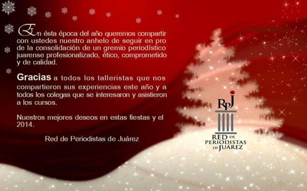 !Nuestros mejores deseos en estas fiestas y feliz 2014 !