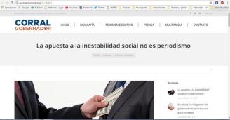 Artículo compartido en una página de Facebook a nombre de Javier Corral (Prensa),